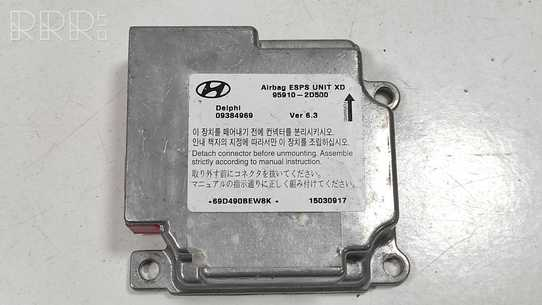 Hyundai Elantra Oro pagalvių valdymo blokas 959102D500